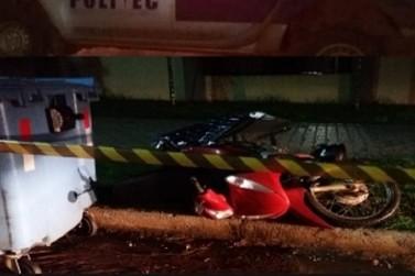 Polícia investiga morte de motociclista ocorrida na madrugada de sábado