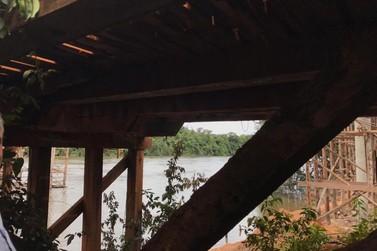 Ponte sobre rio entre Nova Maringá e Tapurah é interditada para veículos pesados