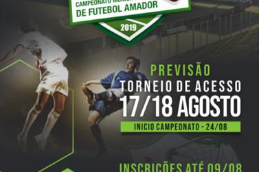 Abertas as inscrições para o Campeonato Municipal de Futebol Amador 2019