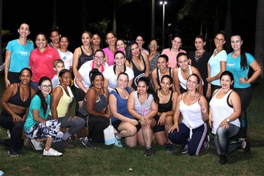 Atividade física reúne grupo de mulheres em Lucas do Rio Verde