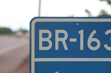 Manutenção na BR-163 deixa trânsito lento próximo a Lucas do Rio Verde