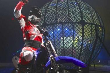 Circo Kroner traz a Lucas do Rio Verde a adrenalina do globo da morte