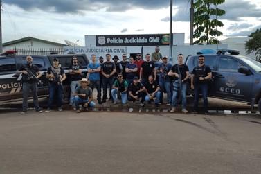 Policiais de Lucas do Rio Verde participam de ação contra o crime organizado