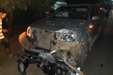 Acidente entre moto e camioneta leva motociclista à morte em Lucas do Rio Verde