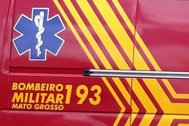 Trabalhador sofre choque elétrico e é socorrido pelo Corpo de Bombeiros