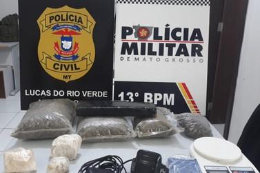 Ampla investigação é concluída; PJC e PM prende suspeito e apreende drogas