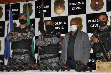Polícia Civil doa 55 armas que atenderão o Sistema Socioeducativo no estado
