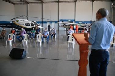 Autoridades luverdenses prestigiam ativação da Base Aérea de Combate a Incêndios