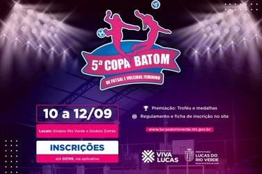 Estão abertas as inscrições para Copa Batom de futsal e voleibol
