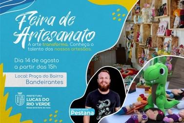 Feira do artesão de agosto será realizada na praça do bairro Bandeirantes