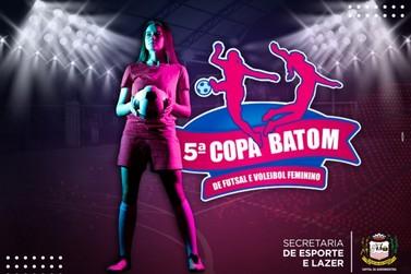 Copa Batom de futsal e voleibol feminino começa nesta sexta-feira (10)