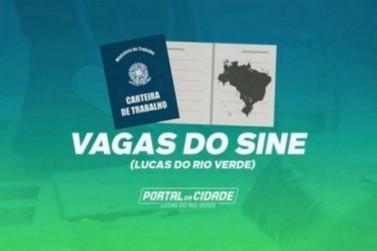 SINE inicia a semana com mais de 150 vagas de emprego para Lucas do Rio Verde