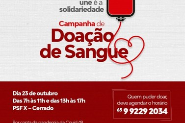 Lucas do Rio Verde terá nova campanha de doação de sangue neste sábado (23)
