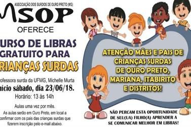 Aulas gratuitas de libras serão oferecidas para crianças e adultos surdos