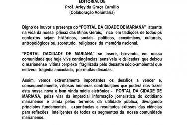 Portal da Cidade - Mariana recebe carta de leitor