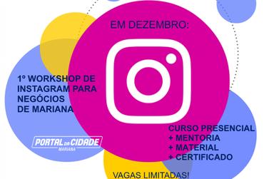 O 1° Workshop de Instagram para negócios será imperdível