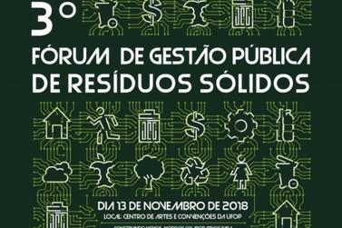 Ouro Preto receberá III Fórum Gestão Pública de Resíduos Sólidos