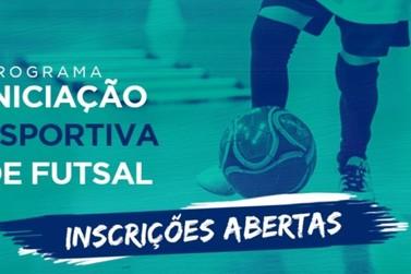 Projeto gratuito de Futsal para crianças está com inscrições abertas