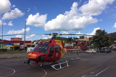 Criança é transferida de helicóptero para o Hospital João XXIII