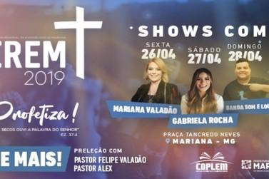 Começa amanhã o Encontro Regional Evangélico de Mariana (Erem)