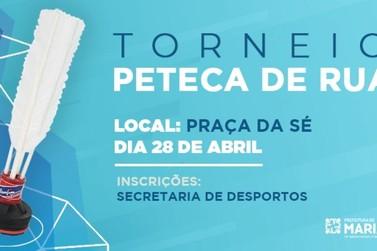 Mariana promove no domingo o 1º Torneio de Peteca de Rua