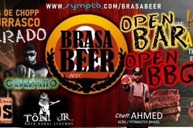 Brasa & Beer Fest terá 8h de churrasco e cerveja