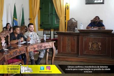 Câmara de Vereadores alerta para superlotação no presídio de Mariana