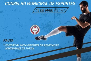 Diretoria da Associação Marianense de Futsal será eleita em assembleia