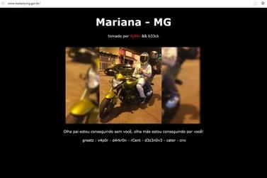 Site da Prefeitura de Mariana é hackeado com imagens, música e mensagens na tela