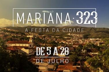 Neste mês de julho Mariana comemora 323 anos e traz atrações gratuitas