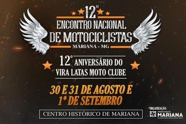 Mariana recebe 12º Encontro Nacional de Motociclistas