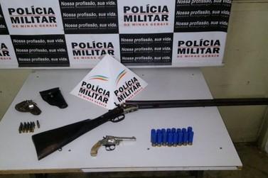 Polícia Militar prende homem por posse ilegal de armas de fogo em Mariana