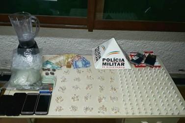 Polícia Militar apreende drogas e prende três em Glaura, distrito de Ouro Preto