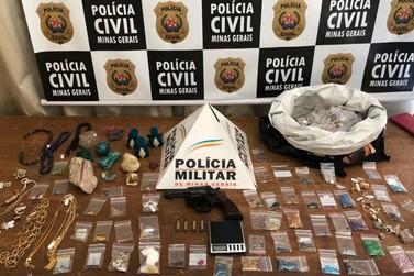 Presos em flagrante suspeitos de roubo a joalheria em Ouro Preto