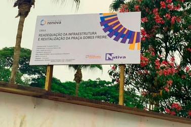 Fundação Renova emite nota sobre a obra da Praça Gomes Freire em Mariana
