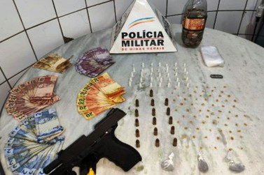 Polícia Militar apreende pistola e drogas no bairro Santo Antônio