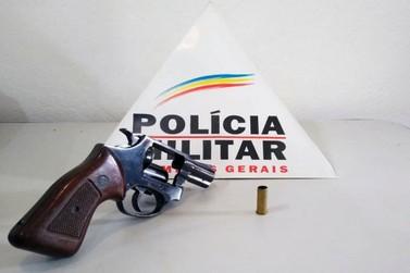 Polícia Militar apreende revólver em Santa Rita Durão