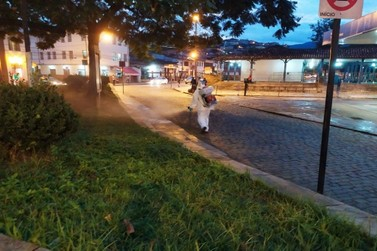 Prefeitura de Mariana realiza desinfecção em pontos estratégicos da cidade