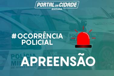 Polícia Militar apreende 20 barras de maconha em Cachoeira do Campo
