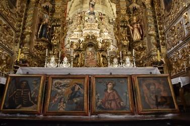 Paróquia Nossa Senhora do Pilar recebe relevantes pinturas restauradas pela FAOP