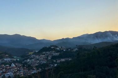 Queimadas começam a atingir a região de Mariana e Ouro Preto