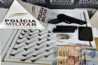 Traficante é preso pela PM em Ouro Preto