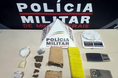 Polícia Militar apreende drogas no bairro Santa Cruz, em Ouro Preto