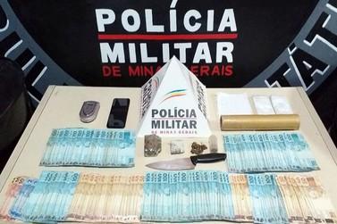 Polícia Militar prende traficante com R$22 mil em Itabirito