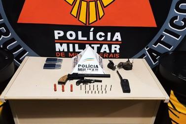 Armas de fogo são apreendidas pela Polícia Militar em Mariana
