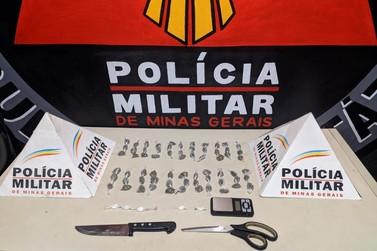 Autor de tráfico de drogas é preso pela Polícia Militar em Ouro Preto