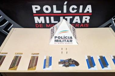 Polícia Militar apreende revólver e munições no bairro São Sebastião, em Mariana