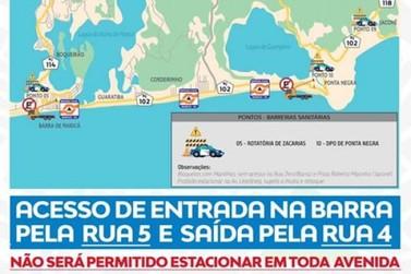 Acessos à Barra de Maricá estão restritos apenas para moradores