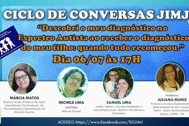 Menino Jesus promove ciclo de conversas sobre autismo no dia 6 de julho
