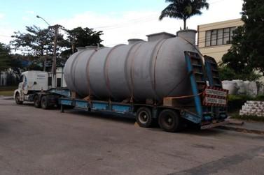 Estação de Tratamento de Esgoto (ETE) das Pedreiras recebe novos tanques